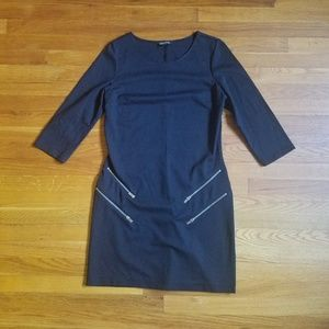 Express black fitted 3/4 sleeve dress